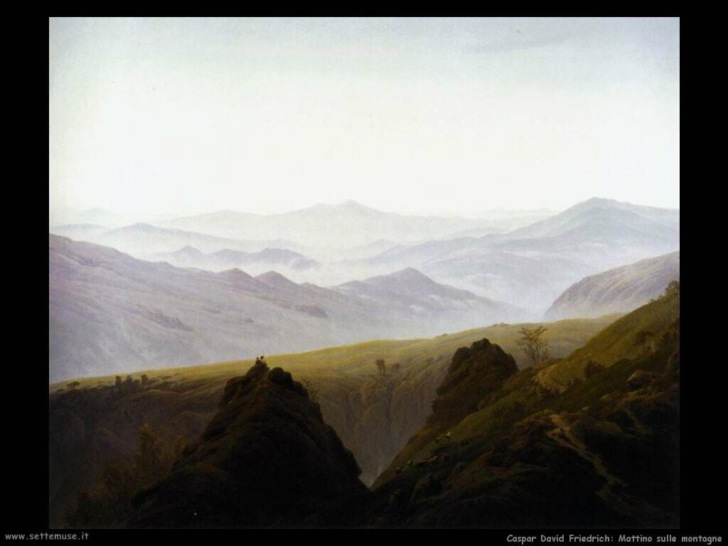 caspar david friedrich Mattino in montagna