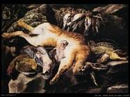 fyt jan Natura morta con lepre e uccellagione