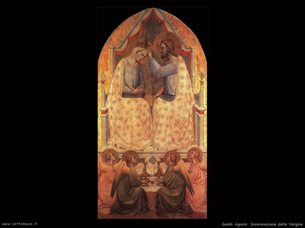gaddi agnolo  Incoronazione della Vergine