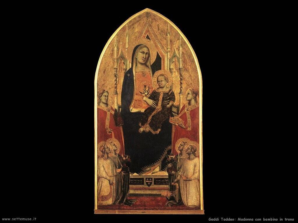 gaddi taddeo Madonna con bambino in trono