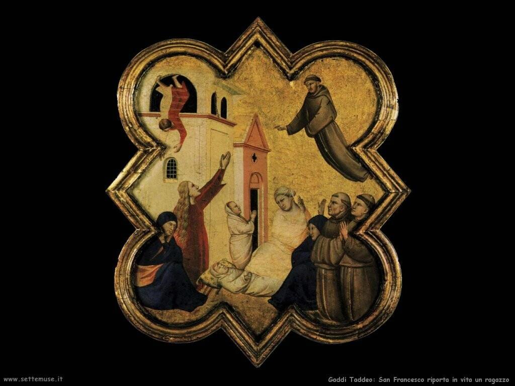 gaddi taddeo  San Francesco riporta in vita un ragazzo