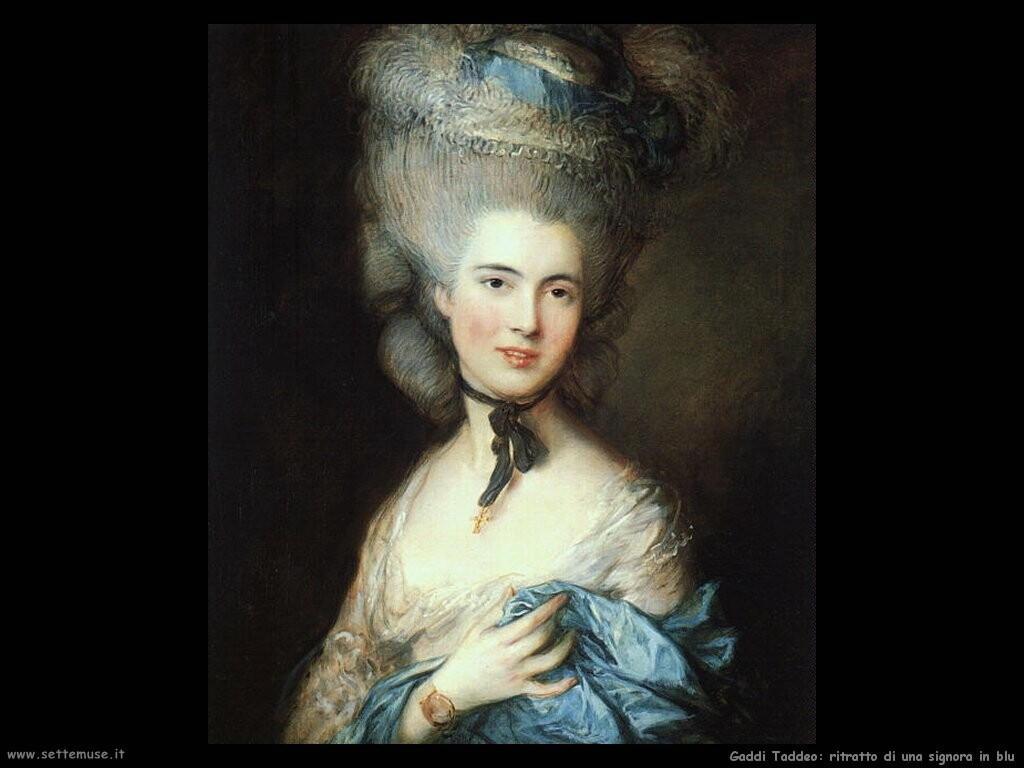gainsborough thomas Ritratto di lady in blu