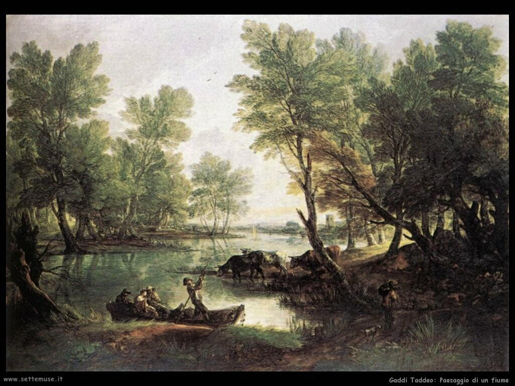 gainsborough thomas Paesaggio con fiume