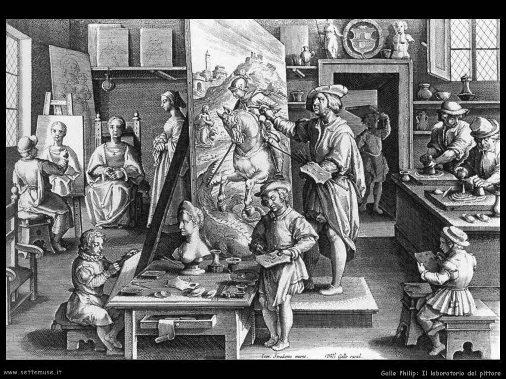 galle philip Laboratorio di pittori