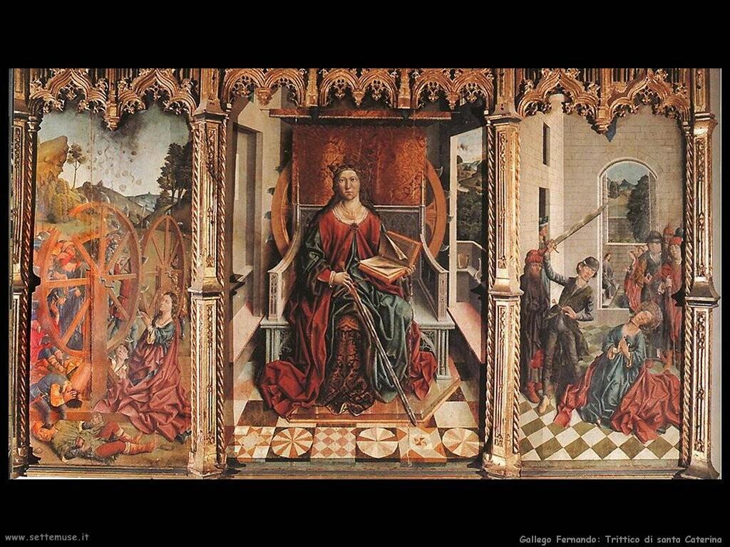 gallego fernando Trittico di santa Caterina