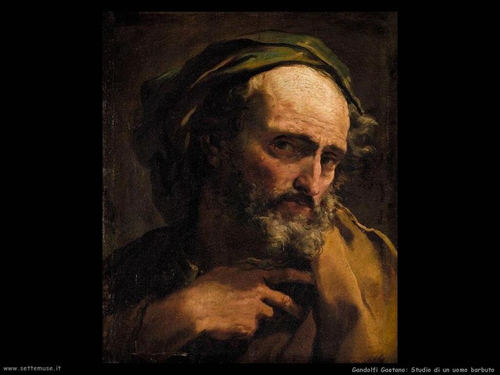 gandolfi gaetano Studio di un uomo con la barba