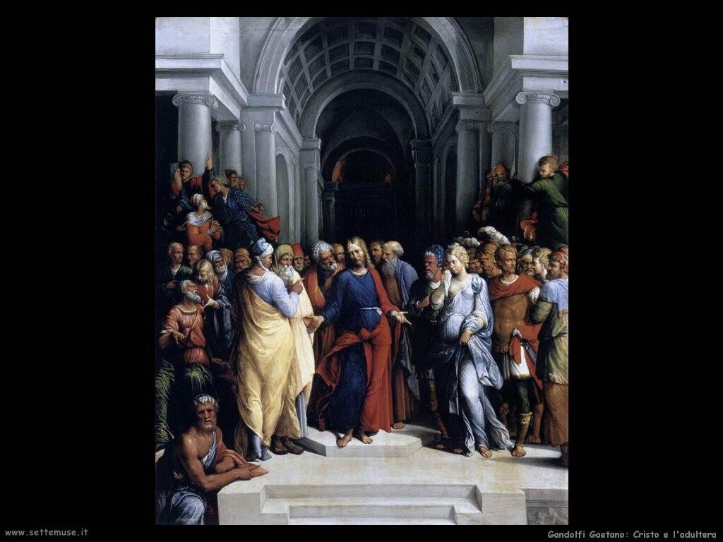 garofalo Cristo e l'adultera