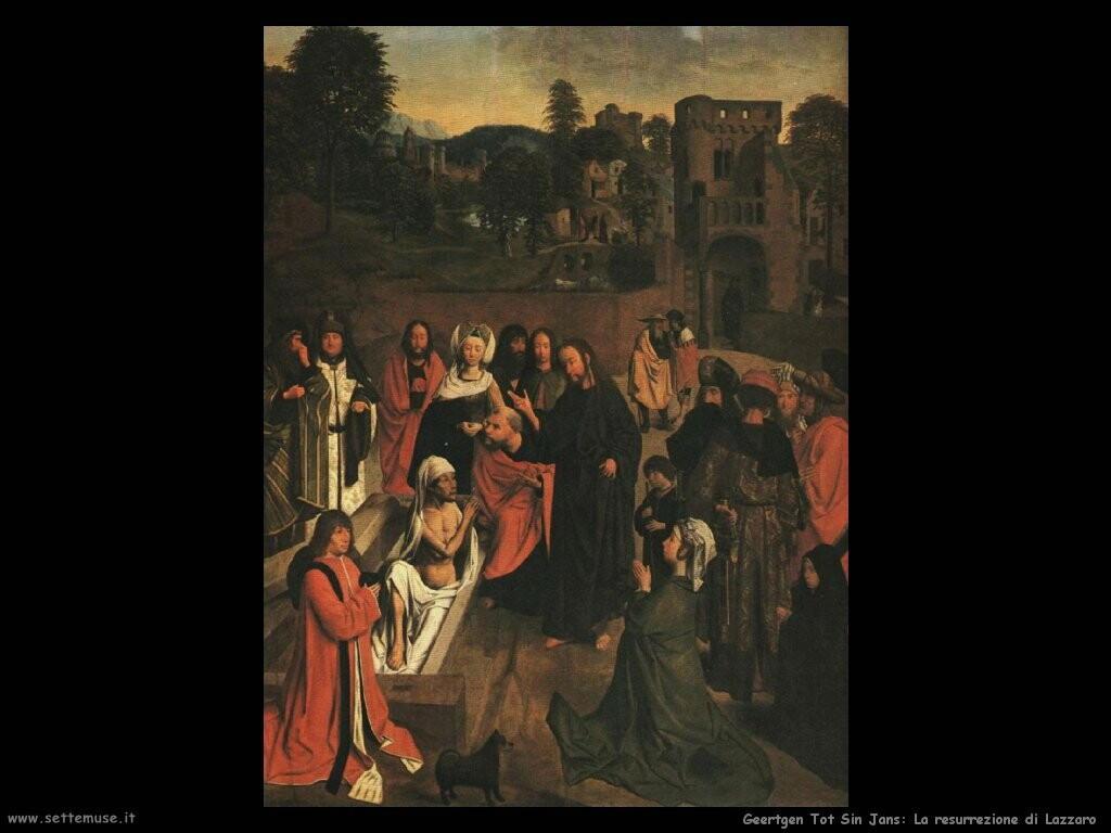 geertgen tot sint jans Resurrezione di Lazzaro