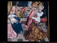 geertgen tot sint jans La sacra famiglia (dett)