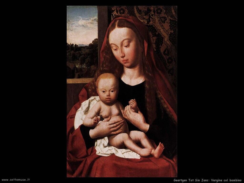 geertgen tot sint jans Vergine con bambino