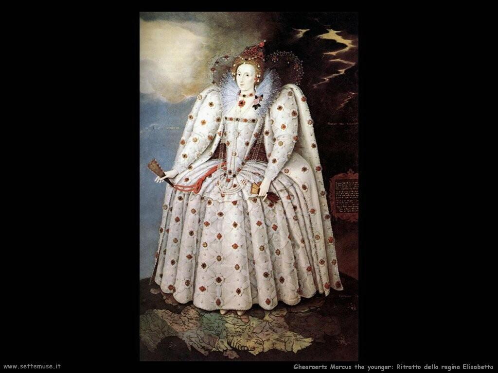 gheeraerts marcus the younger  Ritratto della regina Elisabetta I
