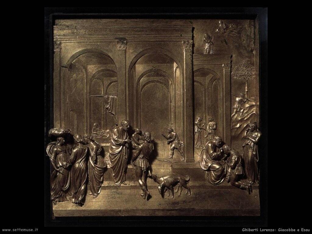 ghiberti lorenzo Giacobbe e Esau