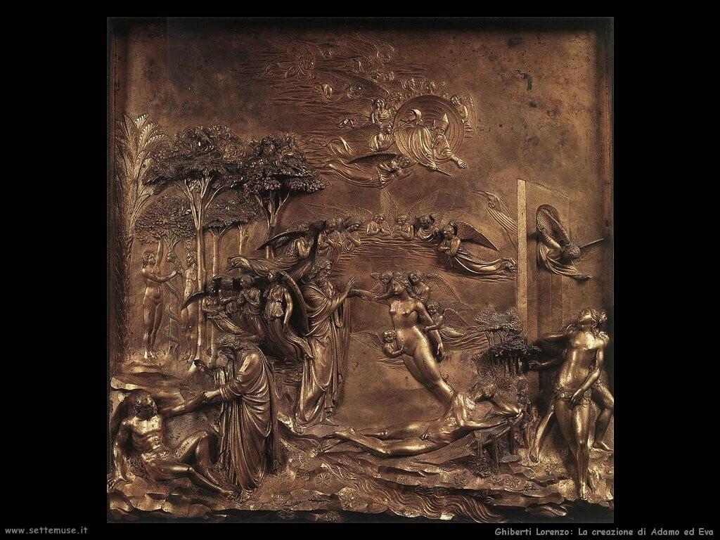 ghiberti lorenzo  La creazione di Adamo ed Eva