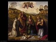 ghirlandaio ridolfo  Sacra famiglia con san Francesco e Girolamo