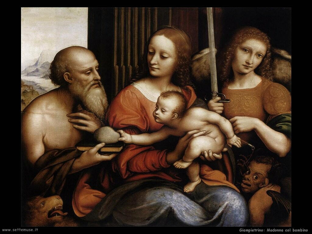 giampietrino Madonna e bambino