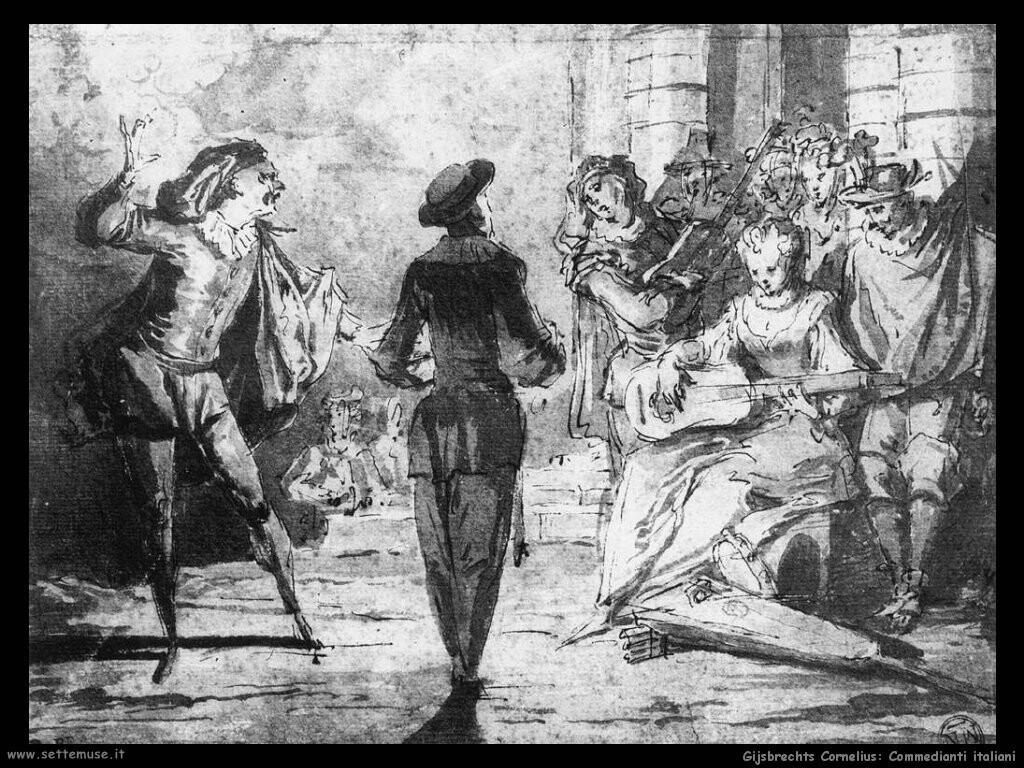 gijsbrechts cornelius Commedianti italiani