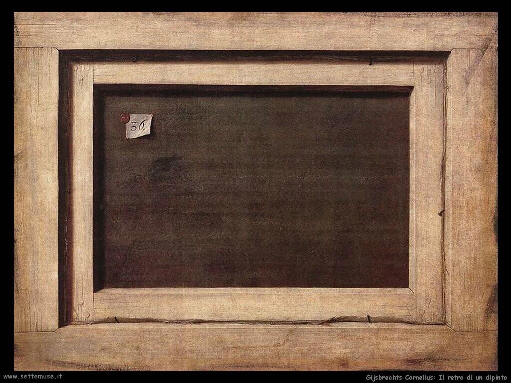 gijsbrechts cornelius Il lato opposto del dipinto