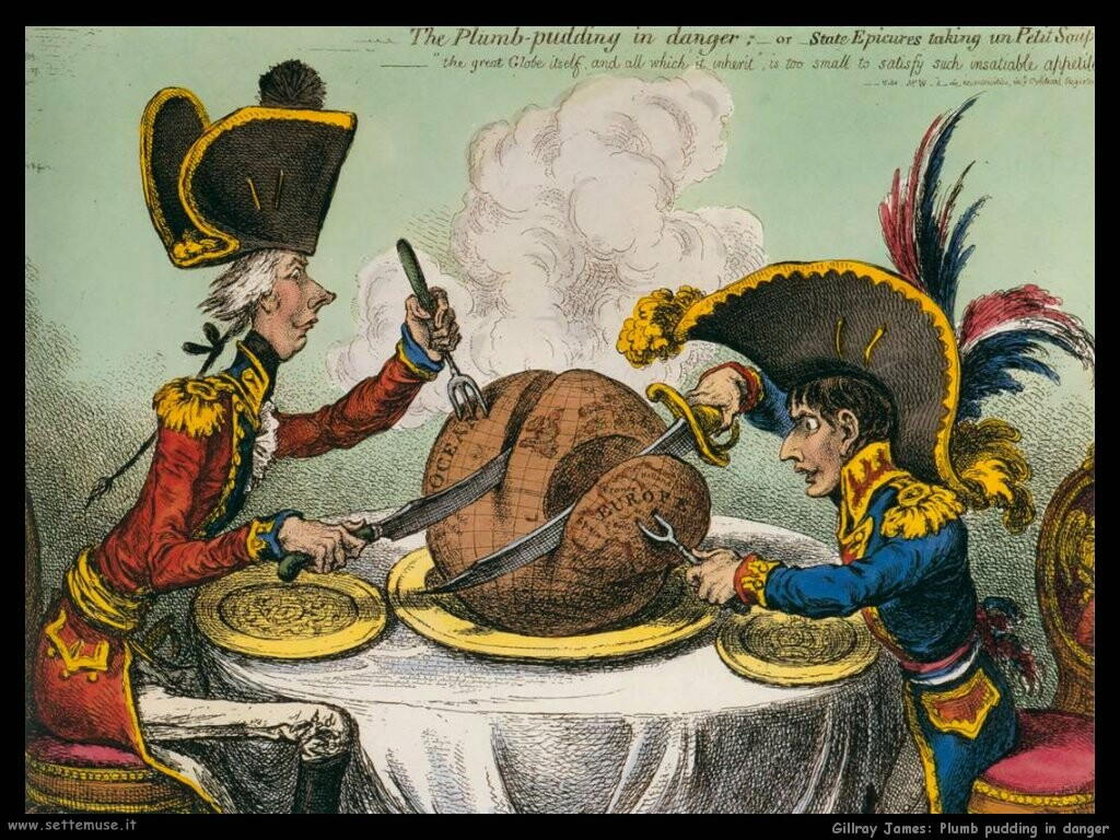 gillray james  The plumb pudding in danger