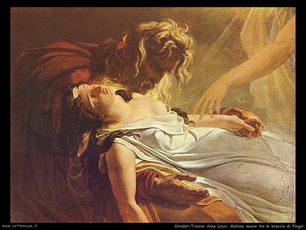 anne louis girodet trioson  Malvina muore tra le braccia di Fingal