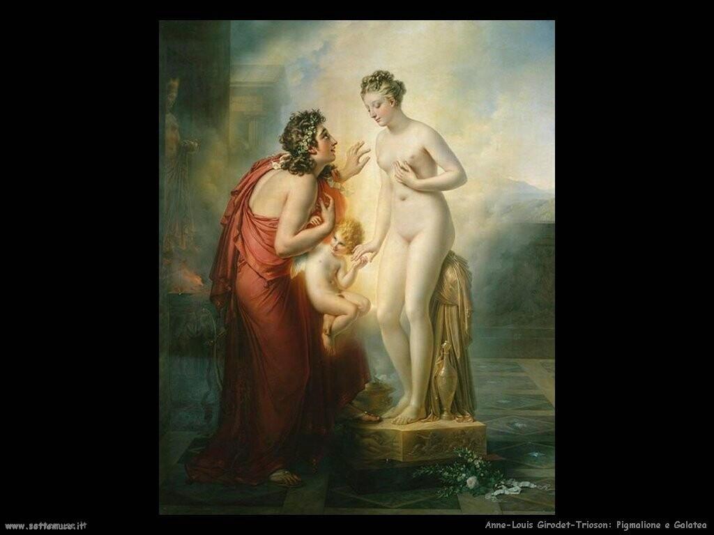 anne louis girodet trioson Pigmalione e Galatea (1819)