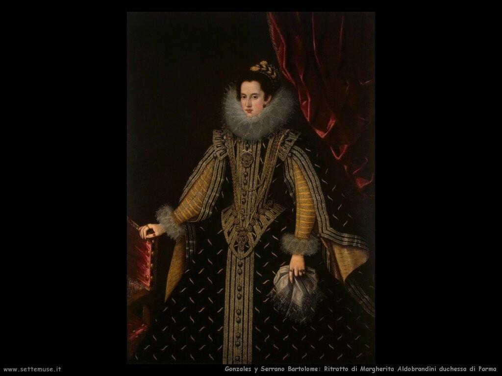 gonzales y serrano bartolome Ritratto di Margherita Aldobrandini duchessa di Parma