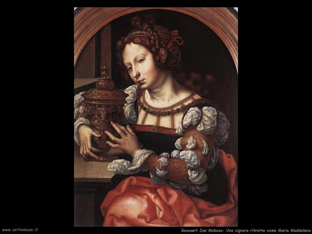 gossaert jan mabuse Una signora ritratta come Maria Maddalena