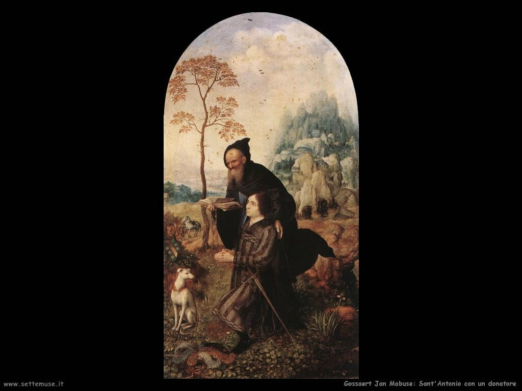 gossaert jan mabuse Sant'Antonio con un donatore