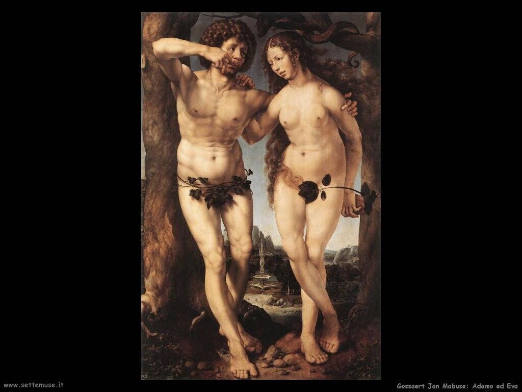 gossaert jan mabuse Adamo ed Eva