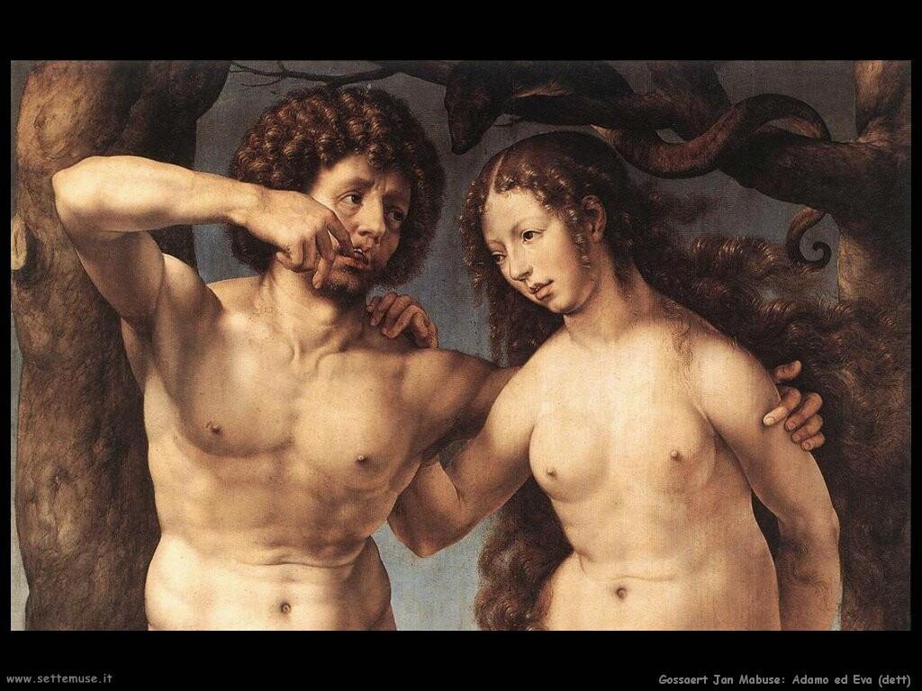 gossaert jan mabuse  Adamo ed Eva (dett)