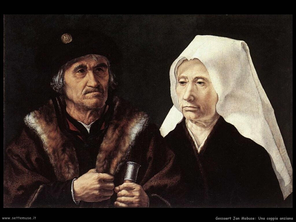 gossaert jan mabuse Una coppia anziana