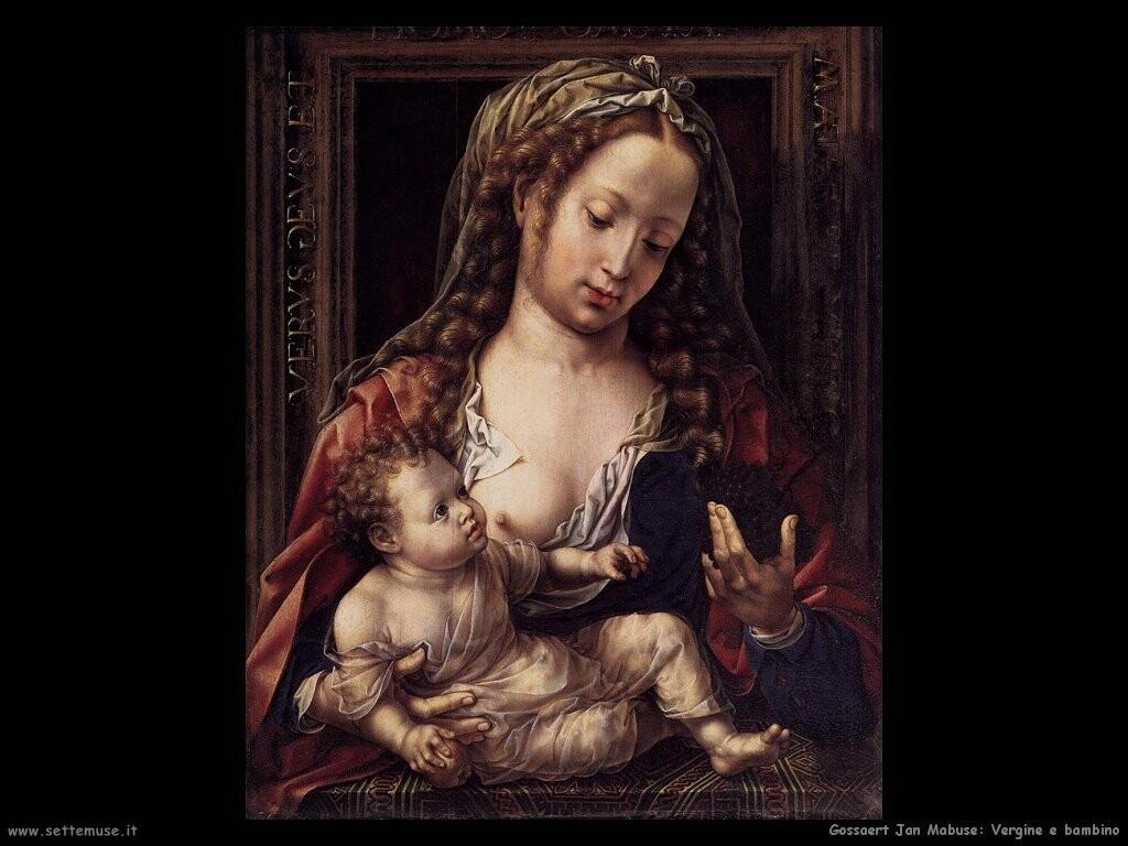 gossaert jan mabuse  Vergine con bambino
