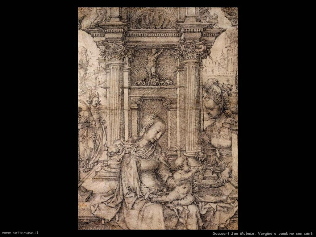 gossaert jan mabuse Vergine e bambino con santi