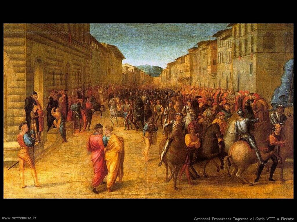 granacci francesco Ingresso di Carlo VIII a Firenze