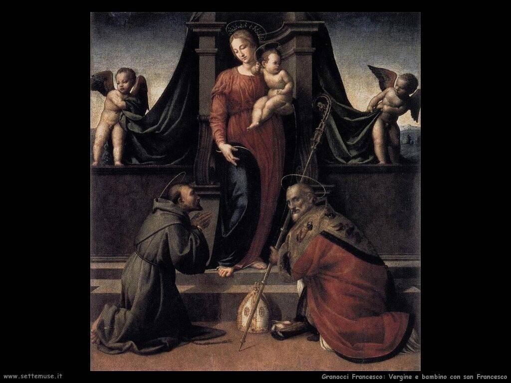 granacci francesco  Vergine con bambino e san Francesco