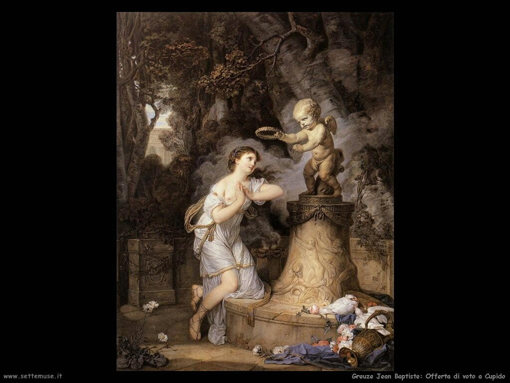 greuze jean baptiste Offerta votiva a Cupido