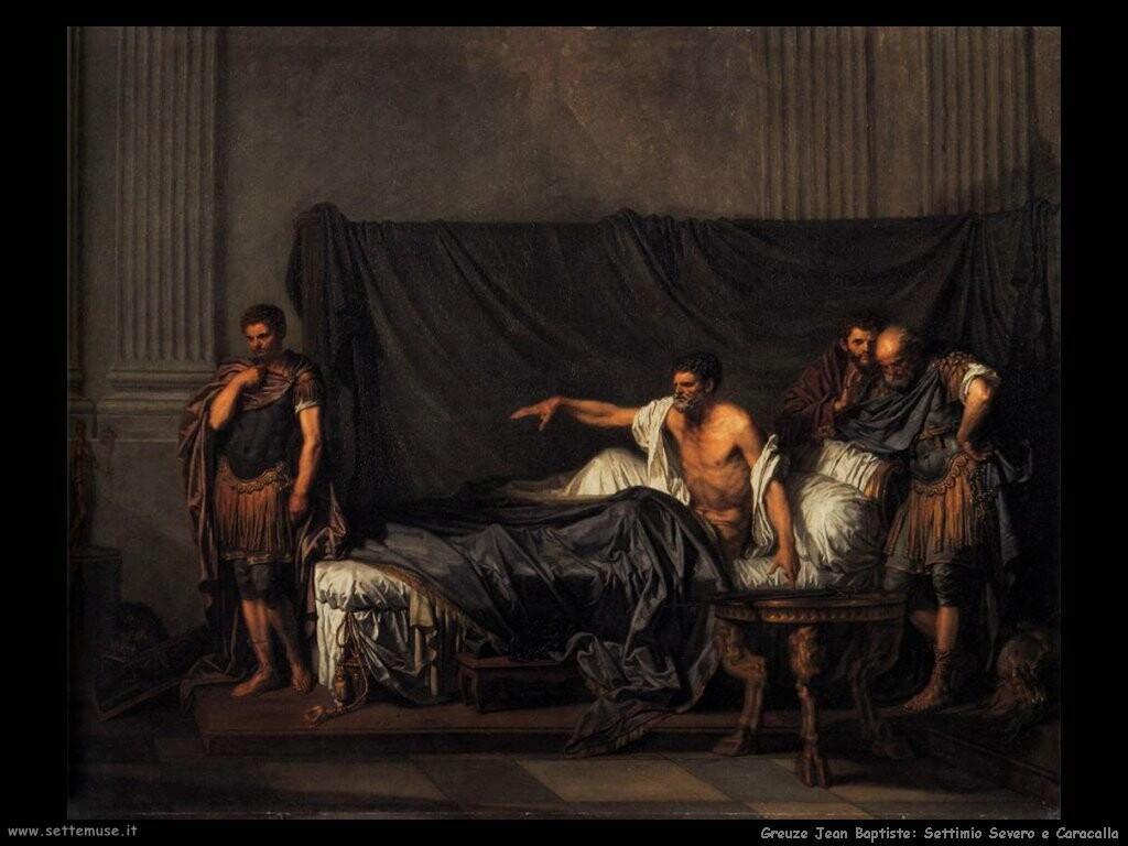 greuze jean baptiste Settimio Severo e Caracalla
