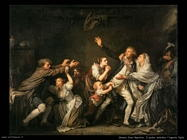 greuze jean baptiste Il padre maledice l'ingrato figlio