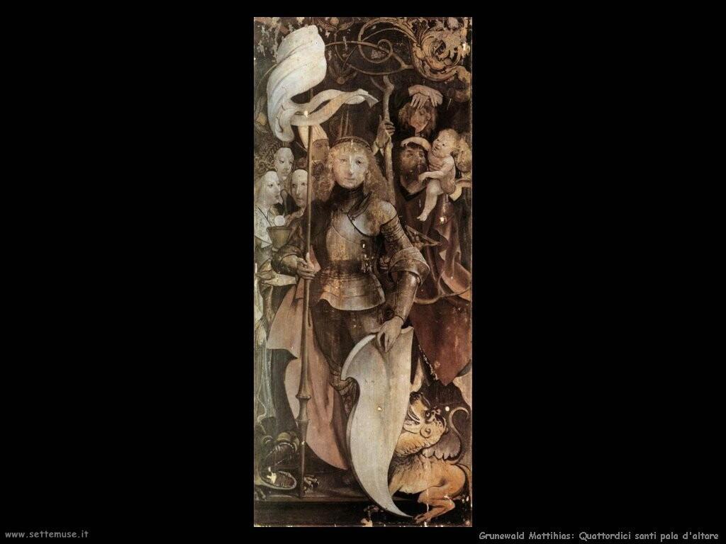 grunewald matthias   Quattro angeli (dett)