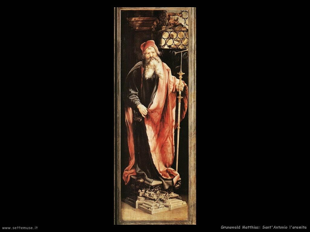 grunewald matthias Sant'Antonio l'eremita