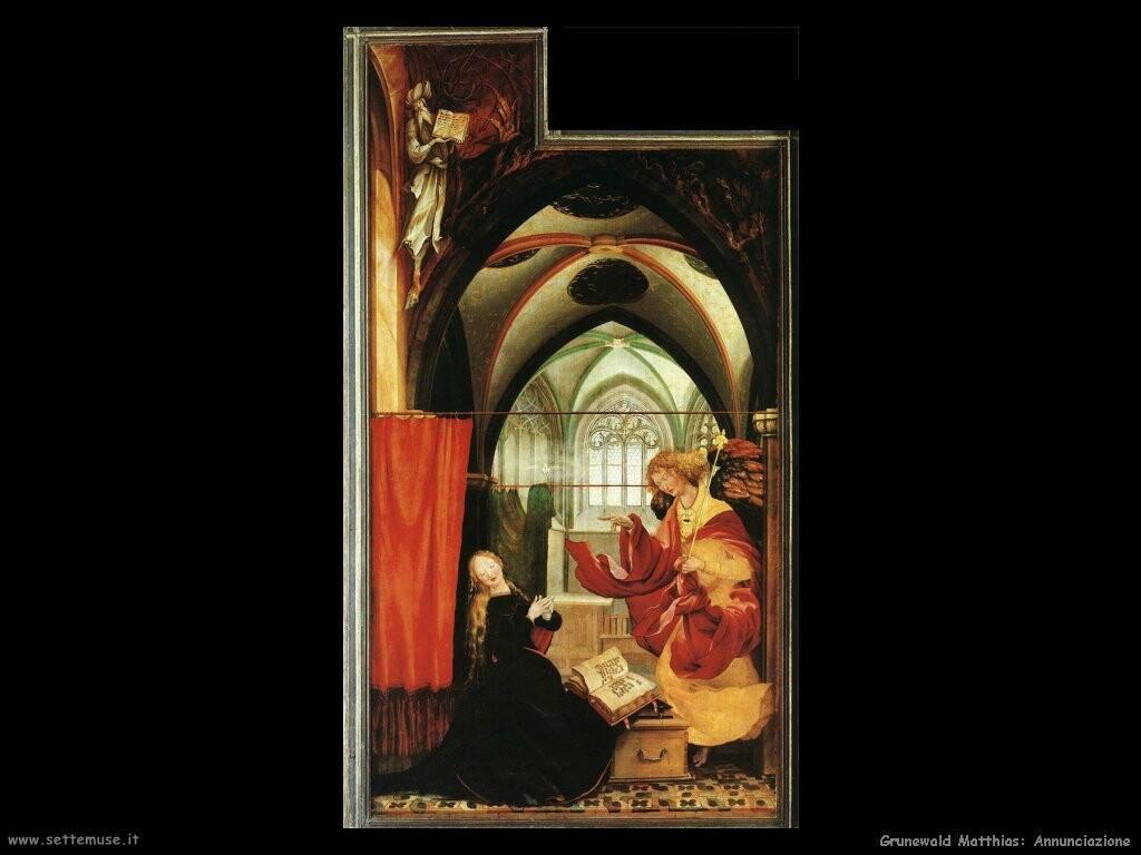 grunewald matthias Annunciazione