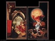 grunewald matthias  Annunciazione e Resurrezione
