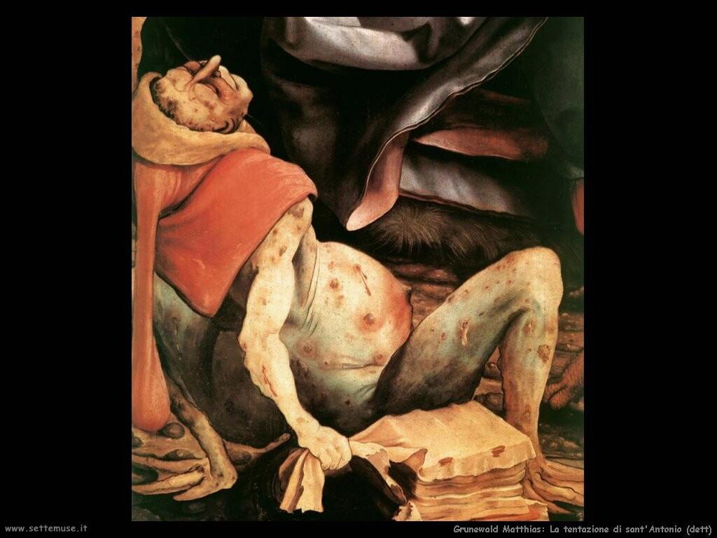 grunewald matthias La tentazione di sant'Antonio(dett)