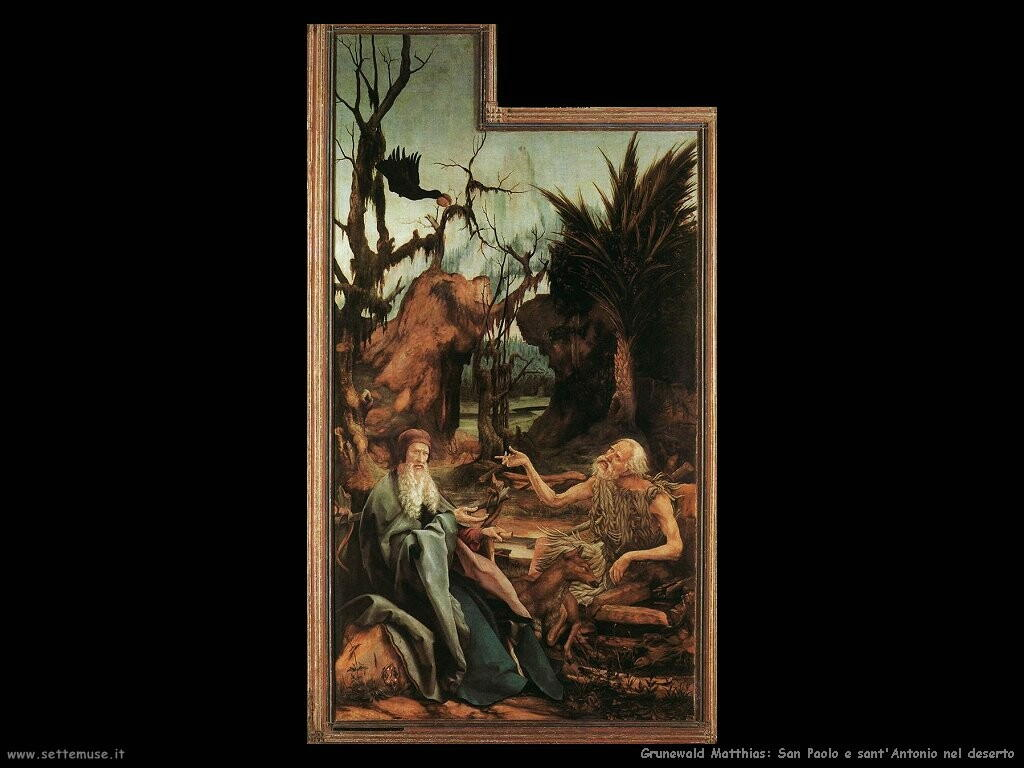 grunewald matthias  San Paolo e Antonio nel deserto