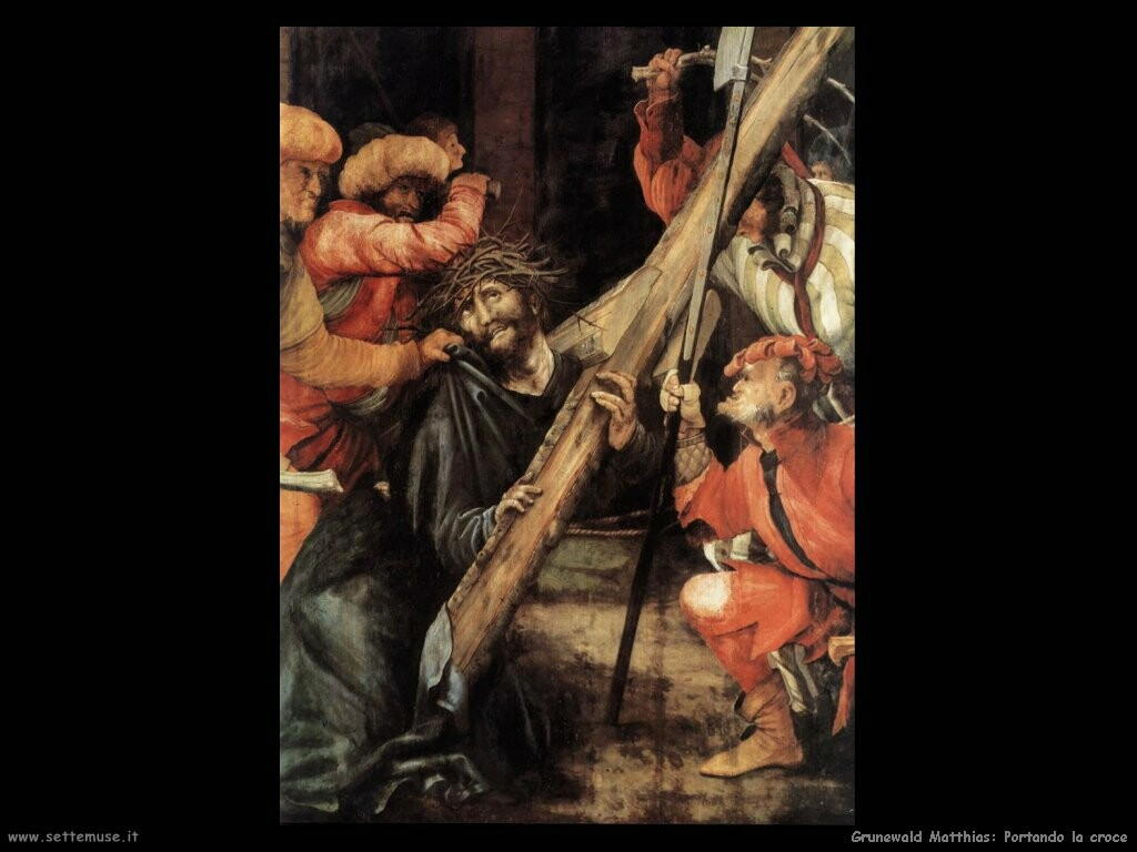 grunewald matthias  Portando la croce (dett)