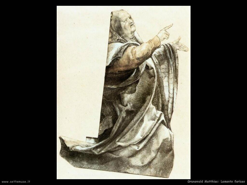 grunewald matthias  Lamento fariseo