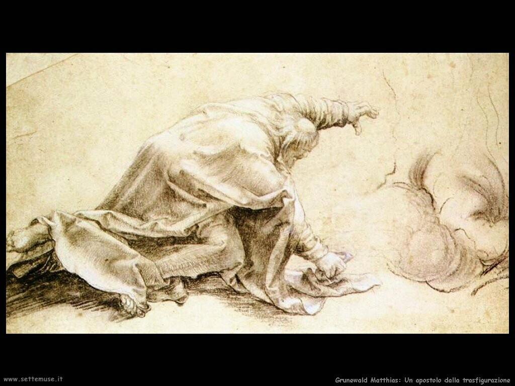 grunewald matthias  Un apostolo (dalla Transfigurazione)