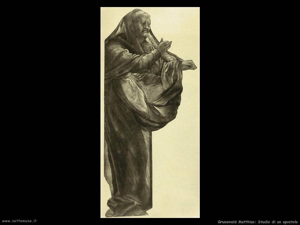 grunewald matthias  Studio di un apostolo