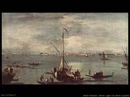 guardi francesco La laguna con barche e gondole