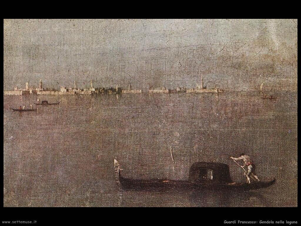 guardi francesco Gondola nella laguna