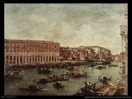 guardi francesco  Il Canal Grande al mercato del pesce